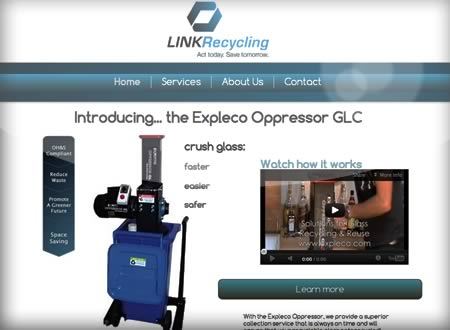 Homepage with Marketing for LinkReycling